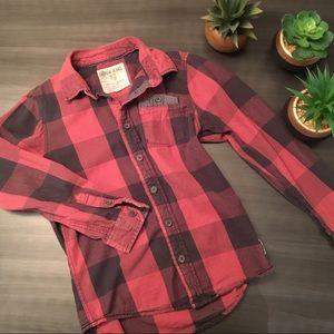 ☀️2/20$☀️GARCIA JEANS boy plaid shirt